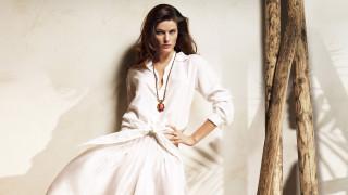 девушки, isabeli fontana, кулон, блузка, модель