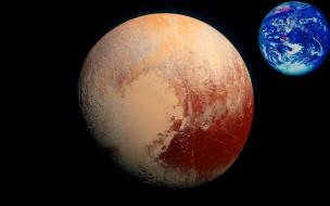 космос, плутон, земля