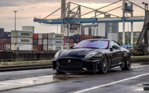 черный, порт, f-type, arden aj 23, ягуар, британские автомобили, спортивное купе, тюнинг, svr, jaguar, 2018