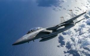 USAF, F-15C Eagle, Облока, Истребитель, Море