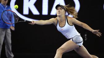 Elina Svitolina, теннис, фон, взгляд, девушка