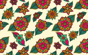 pattern, Leaves, background, flower, фон, цветы