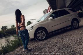 календари, автомобили, водоем, машина, девушка