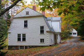 дом, осень