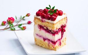 торт, вишни