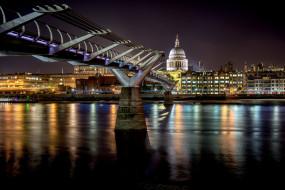millennium bridge, города, лондон , великобритания, простор