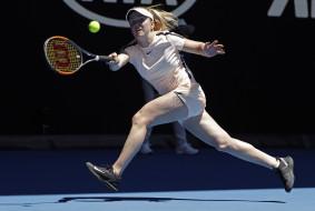 фон, теннис, Elina Svitolina, взгляд, девушка