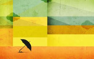 облака, зонт