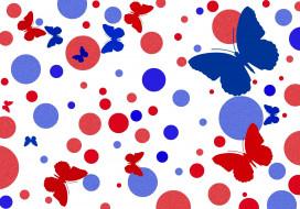 фон, цвет, бабочки, узор