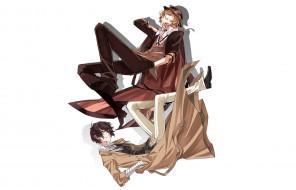аниме, bungou stray dogs, бродячие, псы, литературные, гении