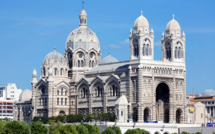 cathedral in marseilles,  france, города, марсель , франция, cathedral, in, marseilles, france
