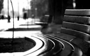 скамейка, дождь