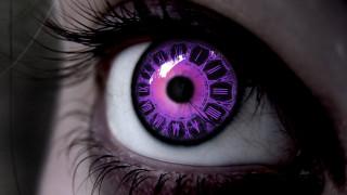 часы, фиолетовый, глаз