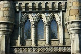 камни, Замок, витражи, окна