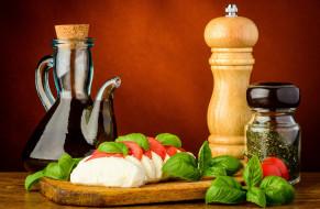 специи, помидоры, сыр, масло