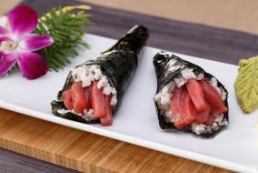 рис, тунец