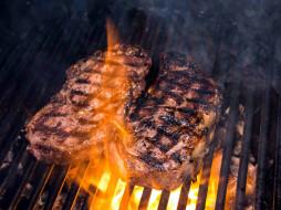барбекю, мясо, гриль