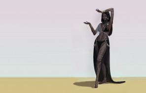 fudu mon, танцовщица, арт