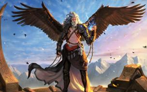 Daejun Park Gae Go, zeus, крылья, арт, воин, пленник, цепи, fantasy