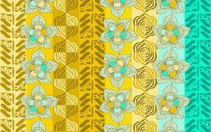 цветы, фон, текстура, орнамент