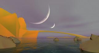 планета, поверхность, море