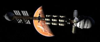 полет, галактики, вселенная, космический корабль