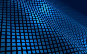 фон, квадраты, кубики, синий