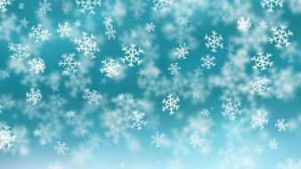 снежинки, фон