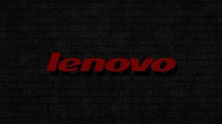 красная надпись, background, logo, серая стена, lenovo, кирпичная стена, пузырьки