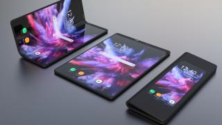 samsung galaxy f, сгибающийся смартфон, новые технологии, foldable smartphone