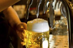 пена, бокал, пиво