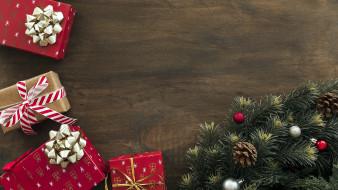 подарки, шарики, ветка, еловая