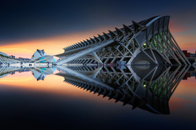 комплекс, архитектура, Испания, Валенсия, Город искусств и наук