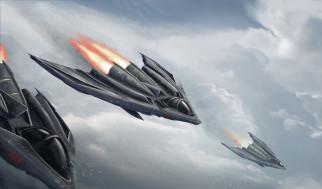 фэнтези, космические корабли,  звездолеты,  станции, небо, фантастика, art, арт, самолеты, рисунок