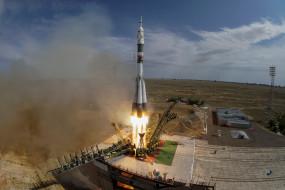 Запуск, Казахстан, Байконур, Союз, Ракета-носитель, Рос космос