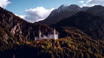 города, замок нойшванштайн , германия, neuschwanstein, castle