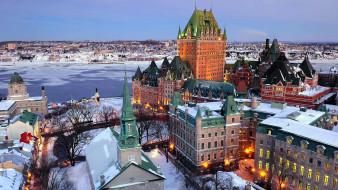 города, квебек , канада, панорама