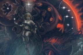 фэнтези, существа, queen, ужас, art, арт, chaos, fantasy, тьма, демон