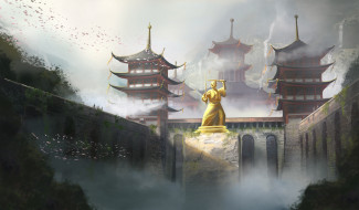 Архитектура, Japan, Замок, Дворец, Япония, Рисунок