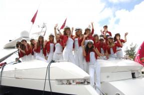 девушки, модели, яхта