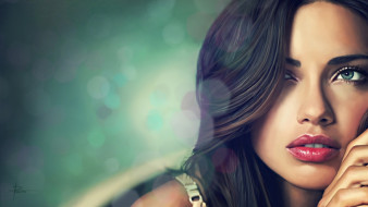 Адриана Лима, модель, лицо