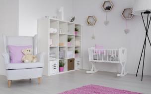 мишка, детская комната, кресло, интерьер, мебель, игрушки