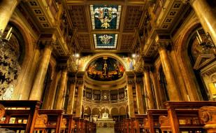 церковь, алтарь, Италия, Рим, скамья