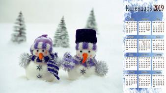 снеговик, шарф