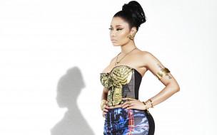 девушка, взгляд, Nicki Minaj, фон, певица, Англия