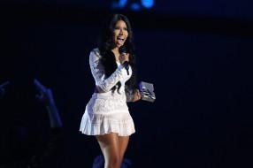 певица, Англия, взгляд, девушка, фон, Nicki Minaj
