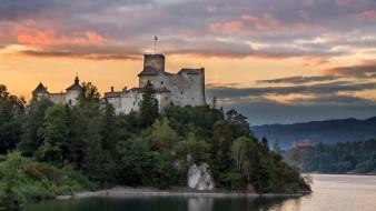 dunajec castle, города, замки польши, простор