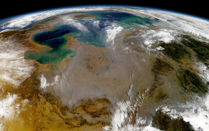 планета, Земля, рельеф, облака