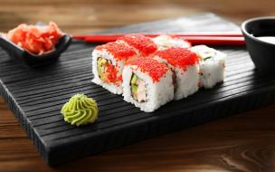 икра, васаби, суши, кухня, японская