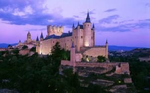 segovia castle,  spain, города, замки испании, spain, segovia, castle